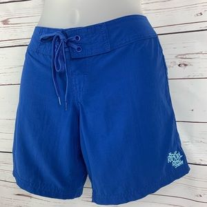 Rip Curl Shorts Tie Waist Two Back Velcro Pockets